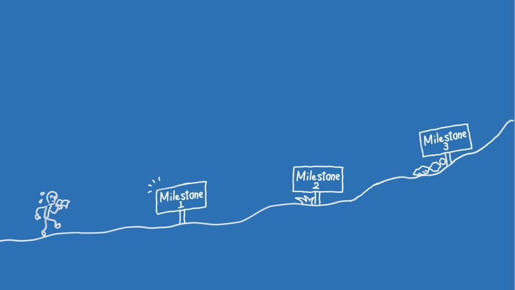 Illustration showing a journey of a UX designer