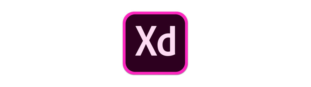 Adobe XD logo as a section divider for Adobe XD section.