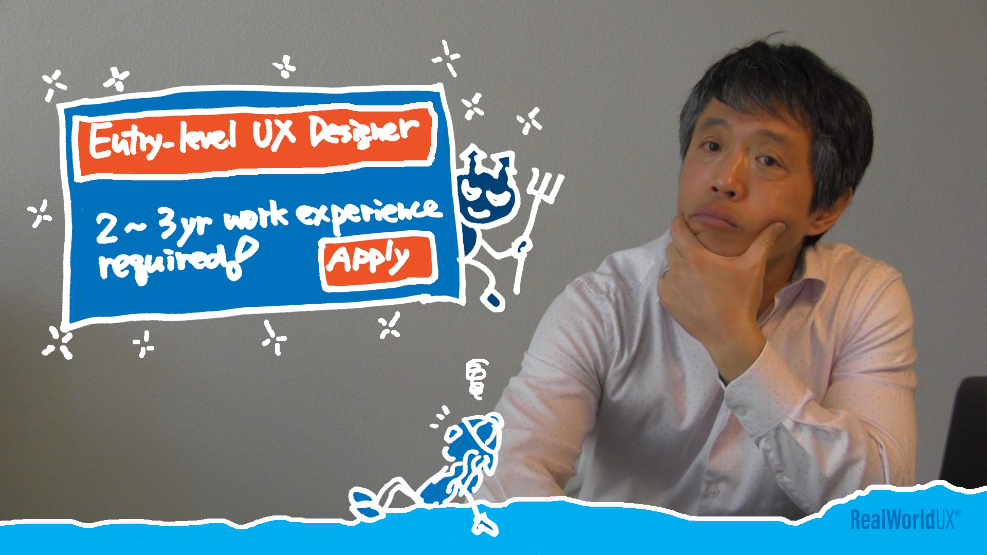 Job posting for an entry-level UX designer says you are required to have 2-3 year work experience.