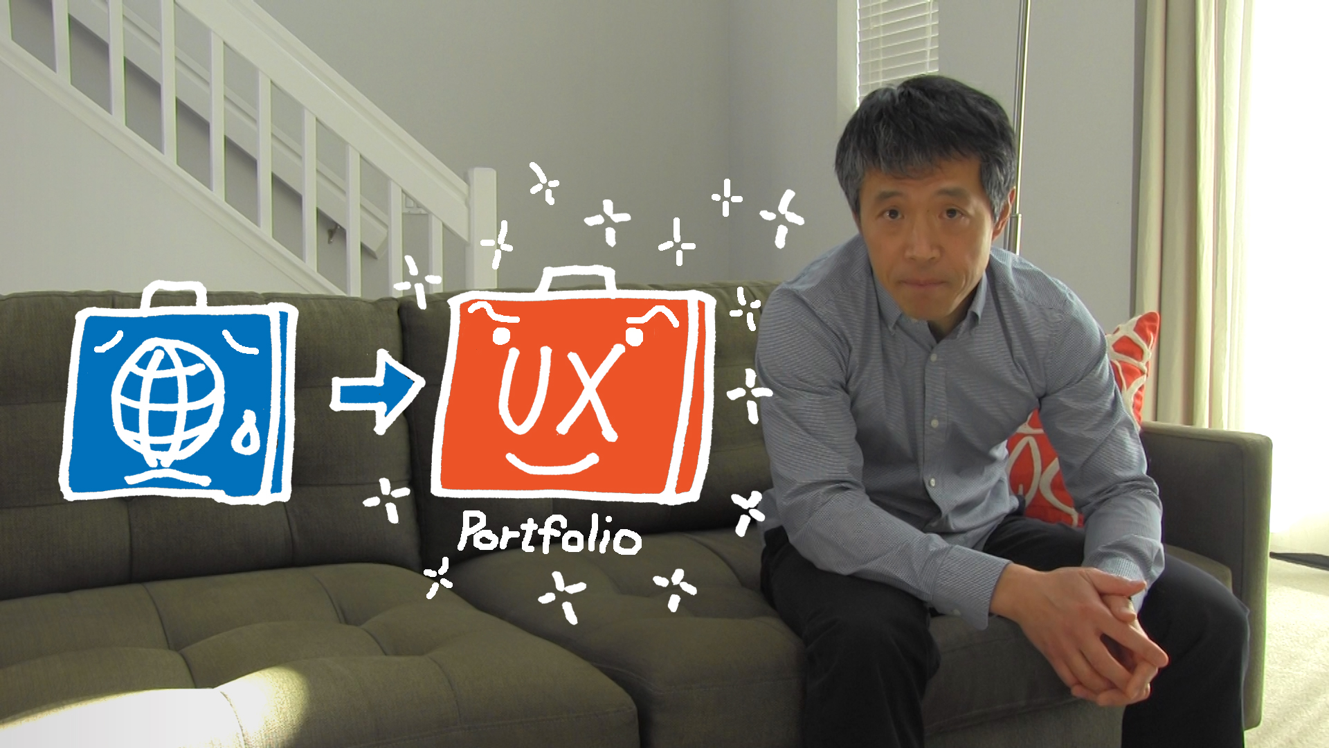 Illustration of converting web designer's portfolio into UX portfolio