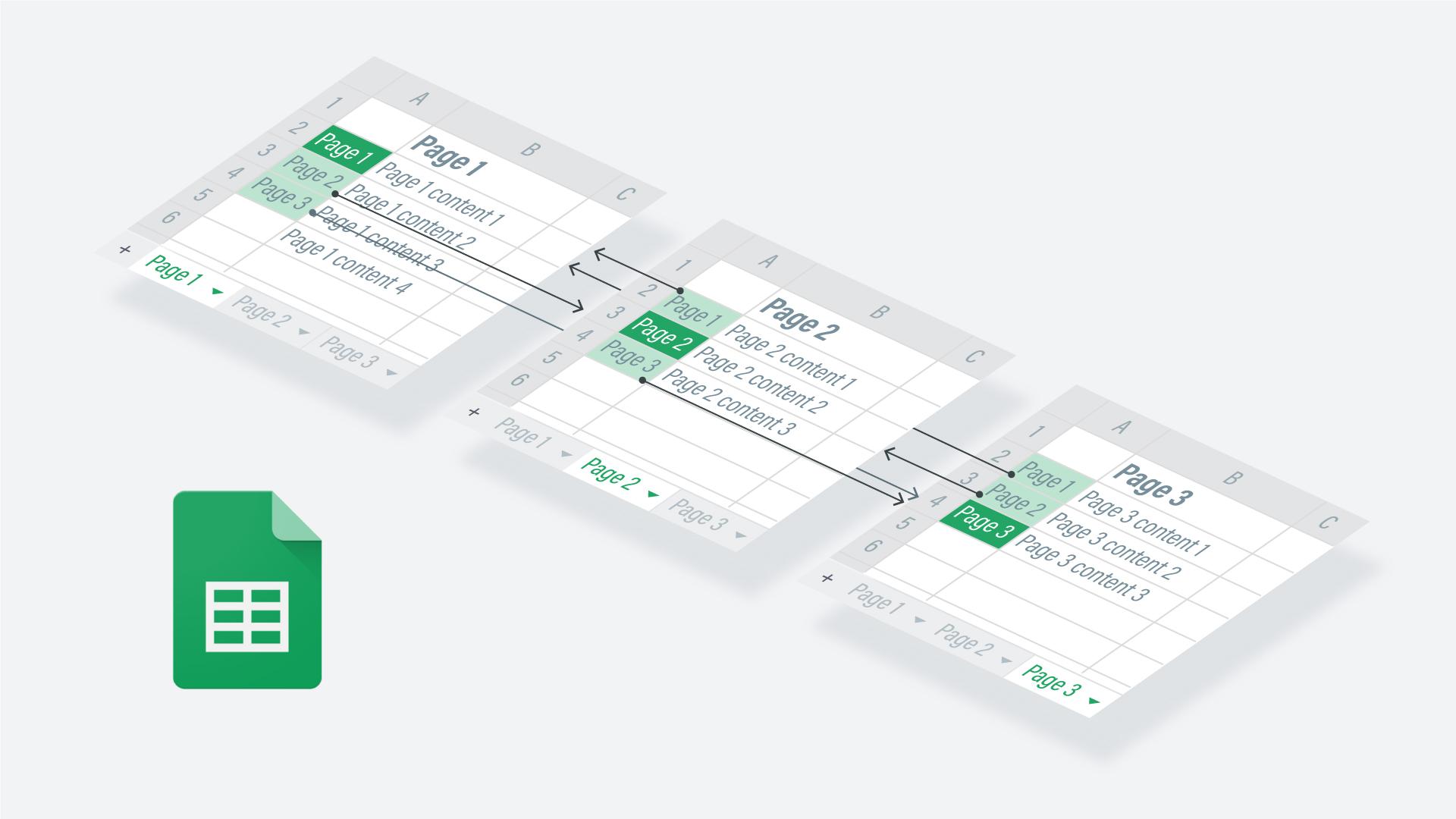A conceptual diagram of Google Sheets prototype