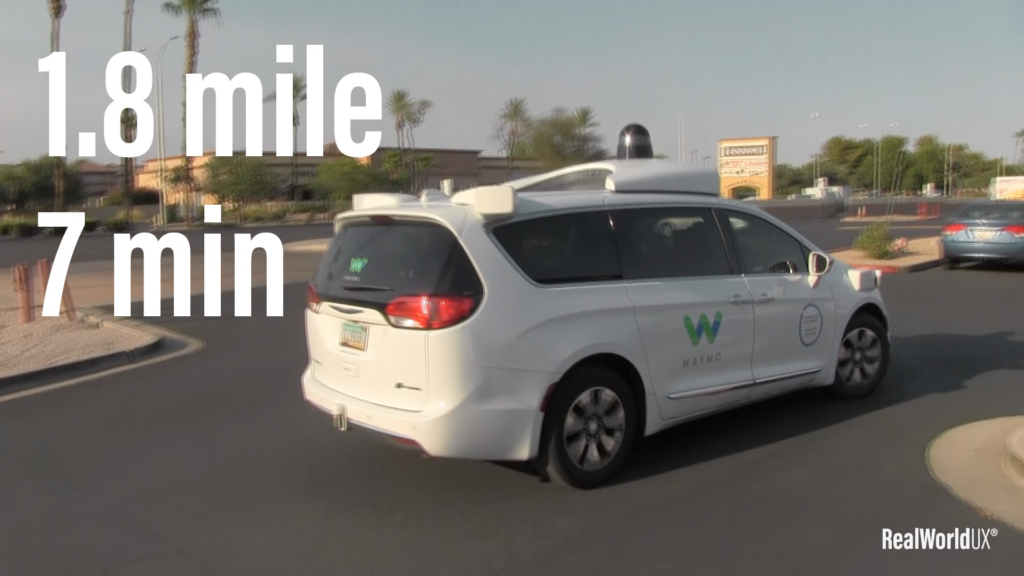A photo of Waymo taking off after I got off.